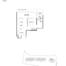 Kingsford Hillview Peak Floor Plan - Penthouse Type A7PH (sghillviewpeak.com)