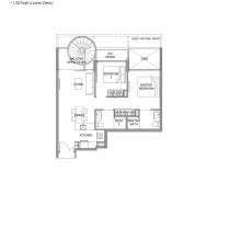 Kingsford Hillview Peak Floor Plan - Penthouse Type B5PH Lower (sghillviewpeak.com)