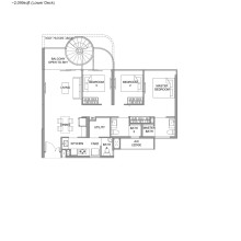 Kingsford Hillview Peak Floor Plan - Penthouse Type C3PH Lower (sghillviewpeak.com)