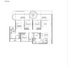 Kingsford Hillview Peak Floor Plan - Penthouse Type D1PH Lower (sghillviewpeak.com)