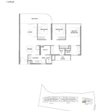 Kingsford Hillview Peak Floor Plan - Type C3 (sghillviewpeak.com)