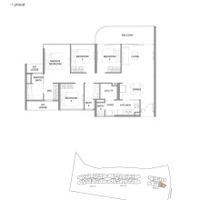 Kingsford Hillview Peak Floor Plan - Type D1 (sghillviewpeak.com)